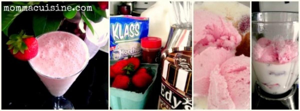 Strawberry Horchata Milkshake Recipes